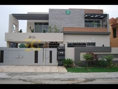 Beautiful 1 Kanal House With Swimming Pool Modern Bungalow Exterior, Modern Exterior House Designs, Best Modern House Design, Modern House Facades, Bungalow House Design, Modern Architecture House, Modern House Plans, House Outside Design, House Front Design