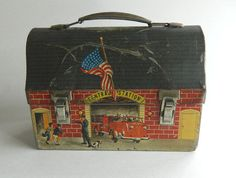Fire Station Lunchbox  1959 Central Station by DustyDiggerLise