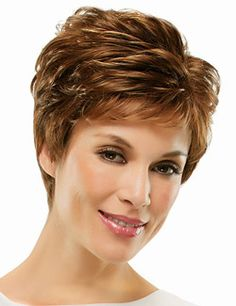 Kris Wig by Jon Renau. Smart and stylish, this sophisticated pixie is a no-fuss favorite.O'solite: Open Cap Construction It's lightweight open cap design is cool, comfortable and superbly easy to style #Kris #jonrenau #shortwig