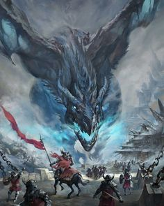 Viserion dragon from Game of Thrones by artist and illustrator Mumu Mei Dark Fantasy Art, Fantasy Artwork, Fantasy Magic, Fantasy Concept Art, Fantasy Kunst, Digital Art Fantasy, Dragon Medieval, Medieval Fantasy, Ice Dragon