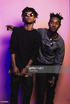 Swae Lee and Slim Jimmy of Rae Sremmurd pose for a portrait backstage at The Fader Fort Presented By Converse at Converse Rubber Tracks Studio on October 23, 2014 in Brooklyn, New York.