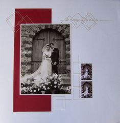 mes parents Heritage Scrapbook Pages, Wedding Scrapbook Pages, Vintage Scrapbook, Diy Scrapbook, Scrapbook Layouts, Album Photo Scrap, Picture Scrapbook, Album Vintage, Unique Photo