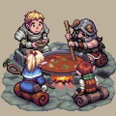 Pixel-Gif-Pixel-Art-Delicious-in-Dungeon-3384936.gif (526×526)