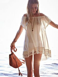 Swimsuit Cover Ups - Beach Dresses, Rompers & More - Victoria's Secret Feminine Mode, Summer Outfits, Cute Outfits, Beach Outfits, Mode Boho, Bathing Suit Covers, Bathing Suits, Boho Fashion, Womens Fashion