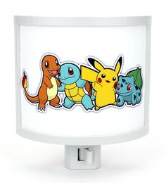 Pokemon starters Pikachu Charmander Squirtle by TakeItWith on Etsy