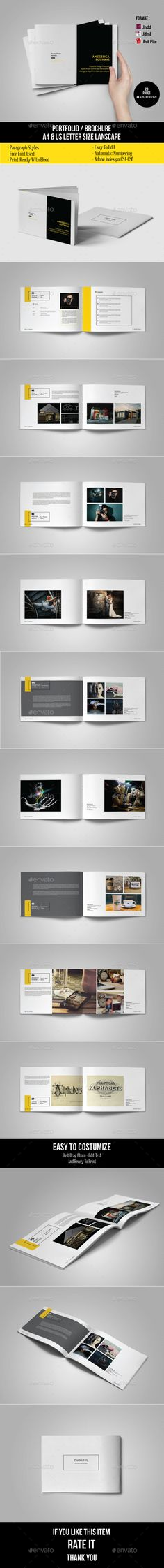Minimal Multipurpose Portfolio Brochure Template InDesign INDD #design Download: http://graphicriver.net/item/multipurpose-portfolio-template/14369404?ref=ksioks