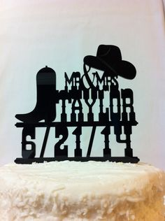 Rustic Country & Western Font Hat And Boot by CountryRoadSpecialty