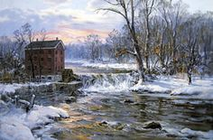 Down By The Old Mill Stream - Charles Vickery Collection Limited Edition Nautical Print
