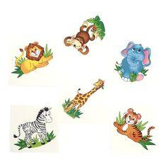Zoo Animal Temporary Tattoos (36 ct)