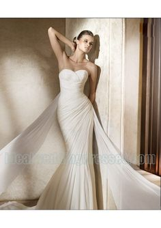 Basic Description: This brand new custom made chiffon dress features its strapless sweetheart neckline with rouched bodice and slim sheath skirt, specialized in two bands designs. This white wedding dress can also be used for destination wedding dres wedding dresses #weddingdress #weddingdresses See it here : http://www.amazon.com/gp/product/B002AVZ57K/ref=as_li_ss_tl?ie=UTF8=1789=390957=B002AVZ57K=as2=mantosuc-20