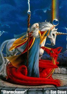 Unicorn, Merlin, a Dragon.  A little bit of everything...