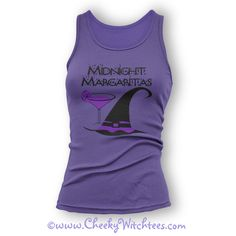 Midnight Margaritas - Practical Magic - Tank Tops and T-Shirts in assorted colors #witch #wicca #witchcraft #practicalmagic #margaritas #midnightmargaritas