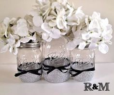 Mason jar centerpiece, Home decor, housewares, christmas decor, decor, mason jars, decorative centerpiece on Wanelo