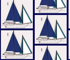 sailorblue fabric by nascustomwallcoverings on Spoonflower - custom fabric