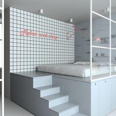 Un mini loft en couleur pastel - PLANETE DECO a homes world