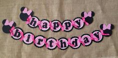 Minnie Mouse Birthday Banner Minnie Mouse by AWhimsyPartyShop