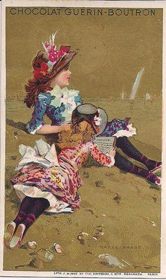 French Trade Card chromo chocolat -guerin-boutron  Guerin is still around today.