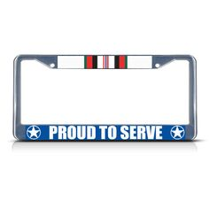License Plate Frame Mall - AFGHANISTAN PROUD TO SERVE Chrome Heavy Duty Metal License Plate Frame Tag, $17.99 (http://licenseplateframemall.com/afghanistan-proud-to-serve-chrome-heavy-duty-metal-license-plate-frame-tag/)