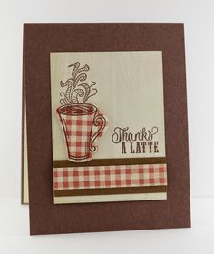 Handmade coffee card by Lynn Mangan using the Coffee and Holiday Treats seta from Verve. #vervestamps
