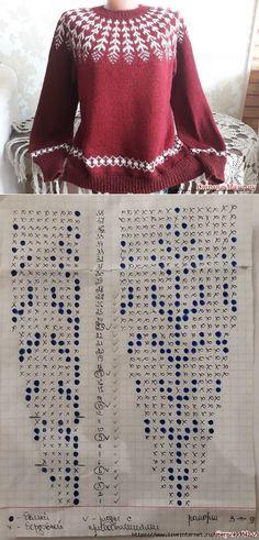Knitting Paterns, Fair Isle Knitting Patterns, Knitting Charts, Knitting Designs, Knitting Yarn, Knit Patterns, Free Knitting, Knitting Needles, Tejido Fair Isle