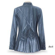 Steampunk Denim Blue Jacket - Women's Clothing & Symbolic Jewelry – Sexy, Fantasy, Romantic Fashions