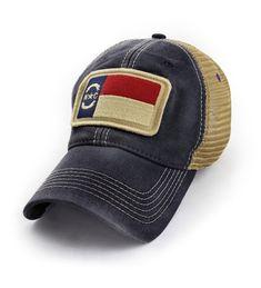 7b1cf643b22950 North Carolina Flag Patch Trucker Hat- Black C412ITYVD8X