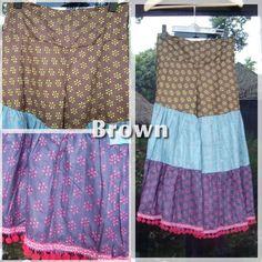 AsianCotton pant -color:Brown-
