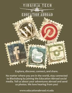 Connect with VT Education Abroad.