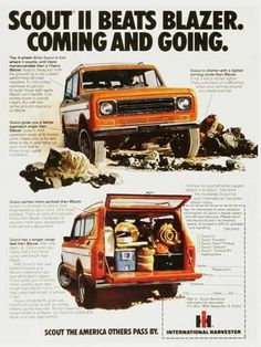 International Harvester Scout II historic ad