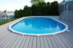 10 (More) Awesome Above Ground Pool Deck Designs   Wood Decks Around  Aboveground Pools, Design Plans And Ideas For Pool Decks