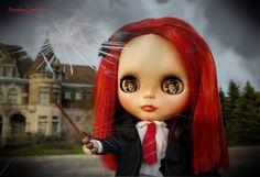 Ginny Weasley Custom Blythe Doll by Sandra Coe
