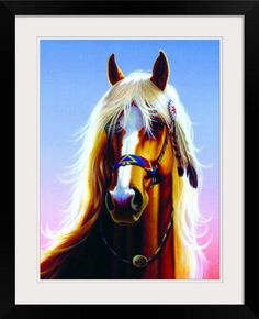 GreatBIGCanvas Indian Horse by Chris Hiett Photographic Print with Black Frame 18 x 24 ** Check this awesome product by going to the link at the image.Note:It is affiliate link to Amazon. #ny