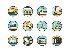 Icon set we created for a feature on Hong Kong in the latest Monocle magazine.