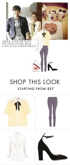"""""""Untitled #1145"""" by angelworlds21 ❤ liked on Polyvore featuring Hello Kitty, Sandro, dVb Victoria Beckham, Boohoo, Valentino and Anya Hindmarch"""