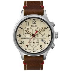 Timex Expedition Scout Chronograph Watch (Brown)