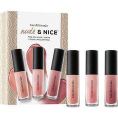 BareMinerals Nude & Nice Mini Gen Nude Matte Liquid Lipcolor Trio