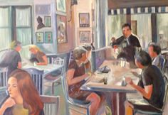Lunchtime Dining by Elana K. Rosen. Send an eCard featuring this artist's work at: http://mymsaa.org/artshowcase2016/aom/