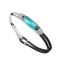 Glamorous New Fashion Austrian Crystal Alloy And Leather Belt Woman's Bracelet - USD $41.95