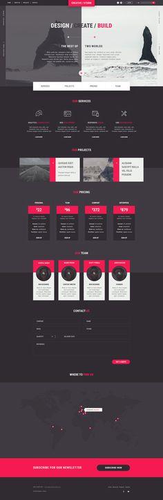 Creative / Storm - Creative Agency PSD Tempalte by gerganesko | ThemeForest