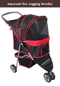 AmorosO Pet Jogging Stroller. Amoroso pet jogging stroller with ...