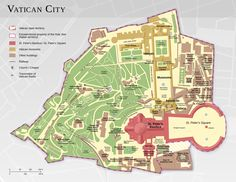 Vatican City from Wikipedia #map #vatican #rome