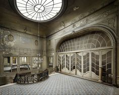 "Abandoned Cinema ""The Aegidium"" built in 1905 by Guillaume Segers, photo by Henk Van Rensbergen. Abandoned Mansions, Abandoned Buildings, Abandoned Places, Abandoned Vehicles, Beautiful Ruins, Beautiful Buildings, Parvis, Door Entryway, Old Houses"
