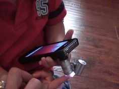 DIY: $5 iPhone Microscope Mod | Put all those iPhones to work in science class. Can also display on the iPad connected to the promethean.... $5 version of a digital microscope!