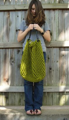 The Weekender - our Top 10 Free Knitted Bag Patterns - find them all on the Let's Knit blog!