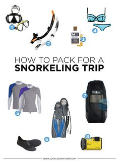 How to Pack for A Snorkeling Trip + Tips On How to Pick Gear How to Pack for a Snorkeling Trip + Tips on Picking Your Gear // Scuba Diving Gear, Snorkel Gear, Sea Diving, Cave Diving, Best Snorkeling, Adventure Gear, Snorkelling, Underwater World, Whales