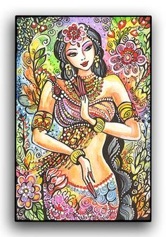 Kuan Yin  Little Goddess  Art Print Mounted on Wood by evitaworks, $17.00