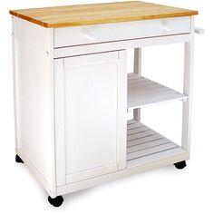 Preston Hollow Kitchen Cart, White
