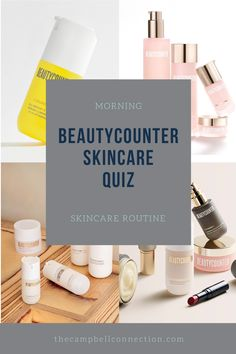 Take my Beautycounter Skincare Quiz to find out which skincare and Beautyocunter makeup works best for you! Beautycounter Makeup, Sheer Lipstick, Male Makeup, Charcoal Mask, Teacher Favorite Things, Clean Beauty, Sunscreen, Serum, The Balm