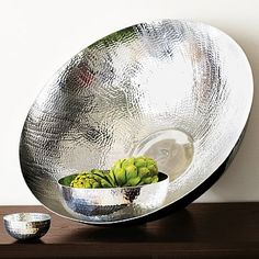 Hammered Metal Serving Bowls These would work well with any color theme. I especially like the texture on each bowl. Contemporary Serveware, Modern Serveware, Modern Dinnerware, Metal Bowl, Bronze, Bedding Shop, Napkins Set, West Elm, Decorative Bowls