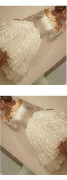 Sequin Homecoming Dresses #SequinHomecomingDresses, White Prom Dresses #WhitePromDresses, Homecoming Dresses 2018 #HomecomingDresses2018, White Homecoming Dresses #WhiteHomecomingDresses, Custom Made Homecoming Dresses #CustomMadeHomecomingDresses, Custom Made Prom Dresses #CustomMadePromDresses